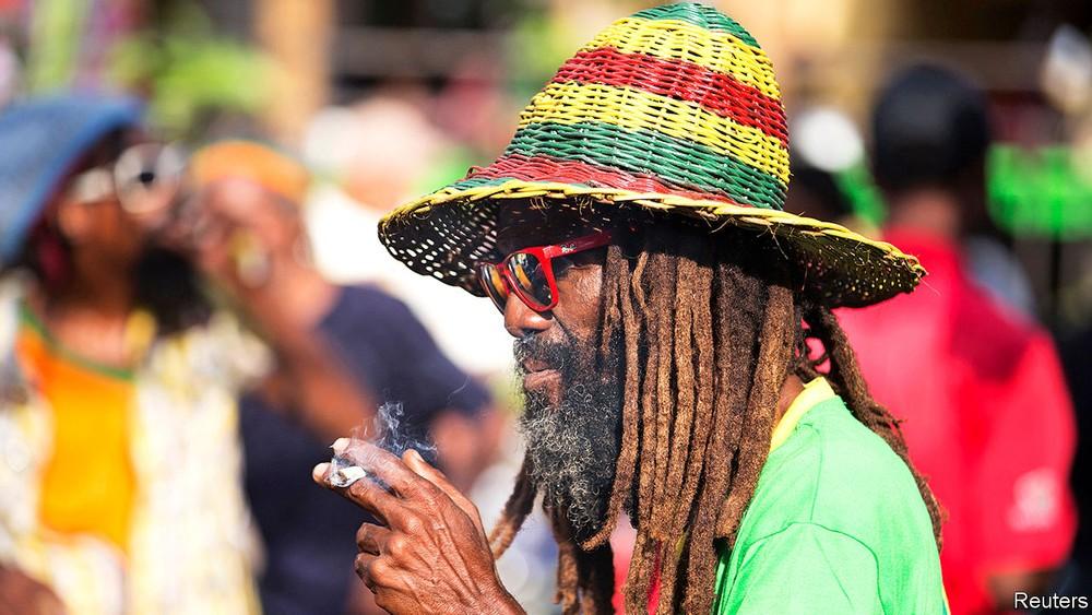 Jamaica cannabis fumador